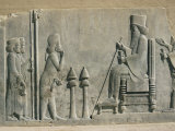 Relief of the Enthronement of Darius, Persepolis, Unesco World Heritage Site, Iran, Middle East Photographic Print by Desmond Harney