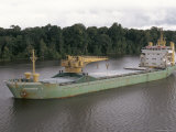 Cargo Ship in the Breves Narrows in the Amazon Area, Brazil, South America Photographic Print by Ken Gillham