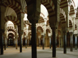 Interior of the Great Mosque, Unesco World Heritage Site, Cordoba, Andalucia, Spain Photographic Print by Peter Scholey
