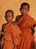 Young Monks During Buddhist Lent, Vientiane, Laos, Indochina, Southeast Asia Photographic Print by Alain Evrard