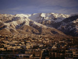 Towchal Range Behind the City, Tehran, Iran, Middle East Photographic Print by Desmond Harney