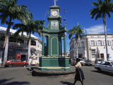 Clocktower at the Circus, Basseterre, St. Kitts, Leeward Islands Photographic Print by Ken Gillham