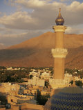 View from Nizwa Fort to Western Hajar Mountains, Nizwa, Oman, Middle East Photographic Print by Ken Gillham