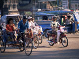 Samlor, Pedicab Taxi, Vientiane, Laos, Indochina, Southeast Asia Photographic Print by Alain Evrard