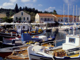 Boats in Fiscardo Harbour, Cephalonia (Kefallinia), Ionian Islands, Greece Photographic Print by Jonathan Hodson
