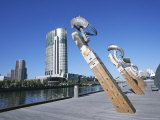 Sculpture Work by Yarra River, Crown Casino, Melbourne, Victoria, Australia Photographic Print by Ken Gillham