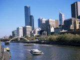 City Skyline and the Yarra River, Melbourne, Victoria, Australia Photographic Print by Ken Gillham