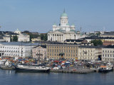 Harbour with Lutheran Cathedral Rising Behind, Helsinki, Finland, Scandinavia Photographic Print by Ken Gillham