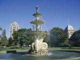 Hochgurtel Fountain, Carlton Gardens, Melbourne, Victoria, Australia Photographic Print by Ken Gillham