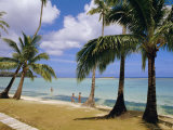 Beach at the Dai Ichi Hotel, Guam, Marianas Islands Photographic Print by Ken Gillham