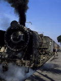 Steam Locomotive of Indian Railways at Chittaurgarh Junction, India Photographic Print by Tony Gervis