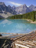 Moraine Lake, Rocky Mountains, Alberta, Canada Photographic Print by Robert Harding