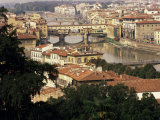 View Over the City Including the River Arno, Florence, Italy Photographic Print by Peter Scholey