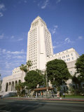Exterior of City Hall, Los Angeles, California, United States of America (Usa), North America Photographic Print by Tony Gervis