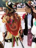 People in Folkloric Costumes, Festa De Santo Antonio (Lisbon Festival), Lisbon, Portugal Photographic Print by Alain Evrard