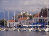 Yachts in the Harbour, Fiscardo, Cephalonia, Ionian Islands, Greece Photographic Print by Jonathan Hodson