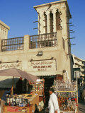 Windtower Overlooks Deira Old Souk and Spice Souk, Deira, Dubai, United Arab Emirates, Middle East Photographic Print by Ken Gillham