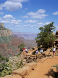 Hikers Return from Canyon Base, Grand Canyon, Unesco World Heritage Site, Arizona, USA Photographic Print by Tony Gervis