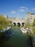 The River Avon and Pulteney Bridge, Bath, Avon, England, UK Photographie par Chris Nicholson