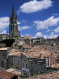 The Tower of L'Eglise Monolithe, St. Emilion, Gironde, Aquitaine, France Photographic Print by Jonathan Hodson
