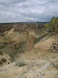 Rock Formation, Spider Rock from Rim, Canyon De Chelly, Arizona, USA Photographic Print by Tony Gervis