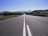 Road Between Arcos De a Frontera and Grazalema, Andalucia, Spain Photographic Print by Peter Higgins
