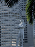 Raffles Statue, River Pier, Singapore Photographic Print by Alain Evrard