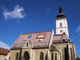 St. Mark's Church, Zagreb, Croatia Photographic Print by Ken Gillham