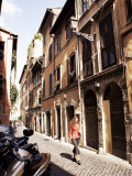 Narrow Street in Trastevere District, Rome, Lazio, Italy Photographic Print by Ken Gillham