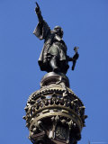 Statue of Christopher Columbus, Barcelona, Catalonia, Spain Photographic Print by Peter Scholey