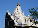 Gaudi's Mosaic House, Guell Park, Barcelona, Catalonia, Spain Photographic Print by Peter Scholey