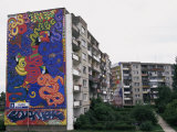 Mural Painting, Housing Estate, Gdansk, Pomerania, Poland Photographic Print by Ken Gillham