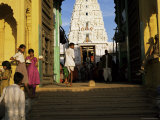 Steps Leading to the Brahma Temple, Where Incarnation of Brahma Took Place, Pushkar, India Photographic Print by Tony Gervis