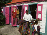 Small Colourful Boutique, Road Town, Tortola, British Virgin Islands Photographic Print by Ken Gillham
