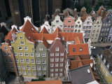 Gables and Painted Facades of Hanseatic Gdansk, Gdansk, Pomerania, Poland Photographic Print by Ken Gillham