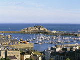 Aerial View of Castle Cornet, St. Peter Port, Guernsey, Channel Islands, U.K. Photographic Print by Tim Hall