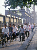 Cyclists, Vietnam, Indochina, Southeast Asia Photographic Print by Tim Hall