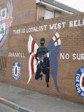 Loyalist Mural, Shankill Road, Belfast, Northern Ireland, United Kingdom Fotografie-Druck von David Lomax