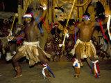 Zulu Cultural Show Near Eshowe, Saakaland (Shakaland), South Africa Photographic Print by Alain Evrard