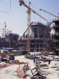 Construction, Dubai, United Arab Emirates, Middle East Photographic Print by David Lomax