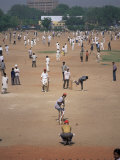 Sunday Cricket, New Delhi, India Reproduction photographique par David Lomax