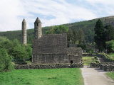 Monastic Gateway, Round Tower Dating from 10th to 12th Centuries, Glendalough, County Wicklow Photographic Print by Gavin Hellier