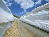 Spring Snow on Road Crossing the Mount Lebanon Range Near Bcharre, Lebanon, Middle East Photographic Print by Gavin Hellier