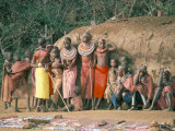 Masai Women and Children, Kenya, East Africa, Africa Photographic Print by Sybil Sassoon
