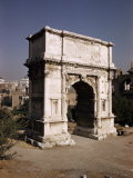 Arch of Titus, Commemorating Capture of Jerusalem in 70 AD, Rome, Lazio, Italy Photographic Print by Walter Rawlings