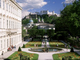 Mirabell Gardens and the Old City, Unesco World Heritage Site, Salzburg, Austria Photographic Print by Gavin Hellier