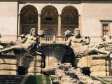 A Cascade in the Gardens of the Palazzo Farnese, Caprarola, Lazio, Italy Photographic Print by Michael Newton