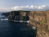 Cliffs of Moher, Rising to 230M in Height, O&#39;Brians Tower and Breanan Mor Seastack, County Clare Photographic Print by Gavin Hellier