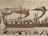 Invasion Fleet, Bayeux Tapestry, France Photographic Print by Walter Rawlings