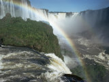 Iguacu Falls, 600M High, and 2470M Long, Iguacu (Iguassu) Unesco World Heritage Site Photographic Print by Walter Rawlings
